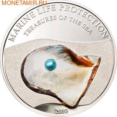 Палау 5 долларов 2010.Жемчужина голубая - Сокровища моря серия Защита морской жизни.Арт.000145230923/60 (фото)