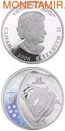 Канада 25 долларов 2008. Ванкувер - бобслей