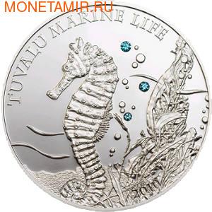 Тувалу 1 доллар 2010.Морской конек (Swarovski).Арт.000166630758/60 (фото)