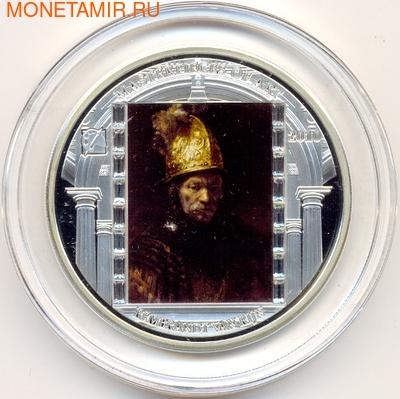 """Острова Кука 20 долларов 2010. """"Шедевры мирового искусства"""":""""Мужчина в золотом шлеме"""" (фото)"""