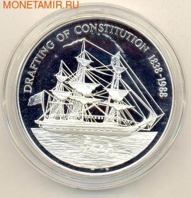 Парусник. Острова Питкерн 50 долларов 1988. (фото)