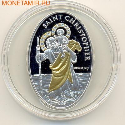 Острова Кука 5 долларов 2009. Saint Christopher (фото)