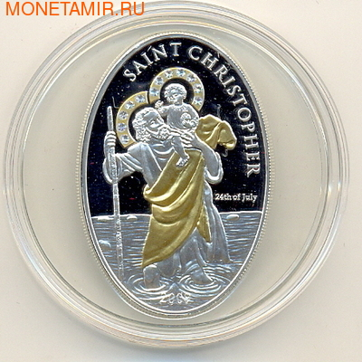 Острова Кука 5 долларов 2009. Saint Christopher (фото)