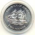 Джерси 2 фунта 1972.Корабль Александрия.Арт.000100033966/60