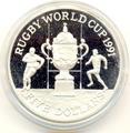 Новая Зеландия 5 долларов 1991.Регби - Чемпионат мира 1991.Арт.000100034001/60