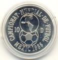 Чемаионат мира- Мексика 1986. Андорра 10 динеров 1986.