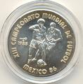 Куба 5 песо 1988.Футбол - Чемпионат мира - Мексика 1986.Арт.000062938686/60