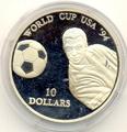 Чемпионат мира - США 1994. Науру 10 долларов 1994.