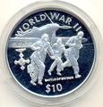 Либерия 10 долларов 1997.Битва за Британию.Вторая Мировая Война.Арт.000138641517/60