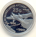 Нидерландские Антильские Острова 25 гульденов 1994. Самолет