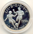 Футболисты с мячом. Соединенные Штаты Америки 1 доллар 1994.