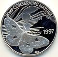Гернси 2 фунта 1997. Бабочка.