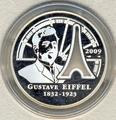 Франция 10 евро 2009. Гюстав Эйфель.