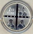 Франция 1,5 евро 2008. Лурдес (1858-2008).