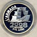 "Франция 1,5 евро 2008. Корабль ""Аманда"""