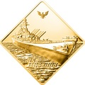 Палау 500 долларов 2008 Линкор Миссури Боевые Корабли (Palau 500$ 2008 USS Missouri Battleships 2,5oz Gold).Арт.60