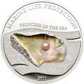 Палау 5 долларов 2011.Жемчужина - Принцесса моря серия Защита морской жизни.