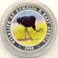 Сомали 250 шиллингов 1998.Птица - Страус серия Живая природа.Арт./60