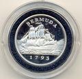 Бермуды 2 доллара 1993. Корабль