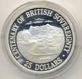 Острова Кука 25 долларов 1988. Корабль. 100 летие Британского суверинитета.
