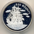 """Либерия 20 долларов 2000. Корабль """"Баунти"""""""