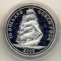 Либерия 10 долларов 2003.Корабль Горч Фок.Арт.000051616761