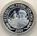 Корабль,Королева Виктория. Остров Святой Елены 50 пенсов 2001. Арт: 000085020882