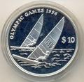 Фиджи 10 долларов 1995. Олимпийские игры 1996