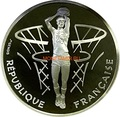 Франция 100 франков 1991 Баскетбол Корзина (France 100 francs 1991 Basketball Silver Coin).Арт.000098637325/60