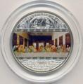 """Острова Кука 20 долларов 2008. """"Шедевры мирового искусства"""": """"Тайная вечеря"""""""