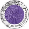 "Австрия 25 евро 2005. ""50 лет Телевидению""."