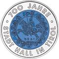 """Австрия 25 евро 2003. """"700 лет городу Халль в Тироле""""."""