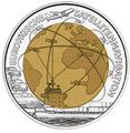 """Австрия 25 евро 2006. """"Европейская спутниковая навигация""""."""