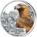 Тувалу 1 доллар 2012.Тасманийский клинохвостый орел - Исчезающие виды.Арт.60