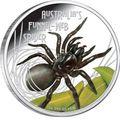 Тувалу 1 доллар 2012 Паук Ядовитый Воронковый серия Смертельно Опасные (Tuvalu 1$ 2012 Deadly Dangerous Funnel Web Spider).Арт.000342240960/60