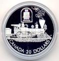 """Канада 20 долларов 2001. Паровоз """"Toronto""""."""