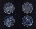 4 coin Set Animals Dimond eyes