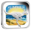 Австралия 1 доллар 2013. Времена года - лето. Кенгуру