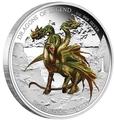 Тувалу 1 доллар 2013.Дракон Трёхглавый - Драконы из легенд.Арт.000334845517/60