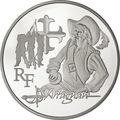 Франция 10 евро 2012. д`Артаньян-Великие характеры французской литературы.