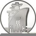 """Франция 10 евро 2012. Трансатлантический лайнер """"Франция""""-Великие корабли Франции"""