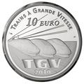 Франция 10 евро 2010. Вокзал Лилль Европа - Поезда Франции