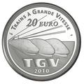 Франция 20 евро 2010. Вокзал Лилль Европа - Поезда Франции