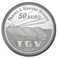 Франция 50 евро 2010. Вокзал Лилль Европа - Поезда Франции