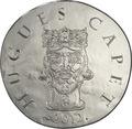 Франция 10 евро 2012. 1500 лет французской истории-Король Гуго Капет