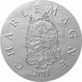 Франция 10 евро 2011. 1500 лет французской истории-Король Карл I Великий