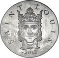 Франция 10 евро 2012. 1500 лет французской истории-Король Людовик IX Святой