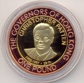 Олдерни 1 фунт 2007 Крис Пэттен Губернаторы Гонконга Биметалл (Alderney 1 pound 2007 Cristopher Patten Governors of Hong Kong BM).Арт.000029316610/55D