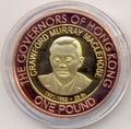 Олдерни 1 фунт 2007 Мюррей Маклхаус Губернаторы Гонконга Биметалл (Alderney 1 pound 2007 C.M. Maclehose Governors of Hong Kong BM).Арт.000029316606/55D