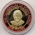 Олдерни 1 фунт 2007 Эдвард Юди Губернаторы Гонконга Биметалл (Alderney 1 pound 2007 Edward Youde Governors of Hong Kong BM).Арт.000029316607/55D